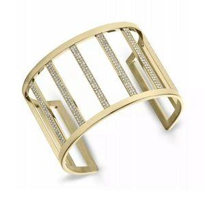 Michael Kors Gold Wide Bar Open Cuff Bracelet 💎